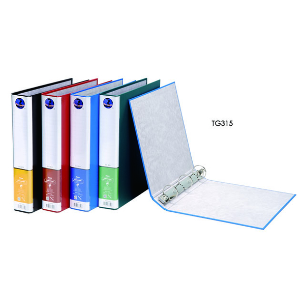 (TON CHUNG)Tongchun TON CHUNG TG315 environmental protection PP synthetic paper American three-hole round clip blue / 12 into / box