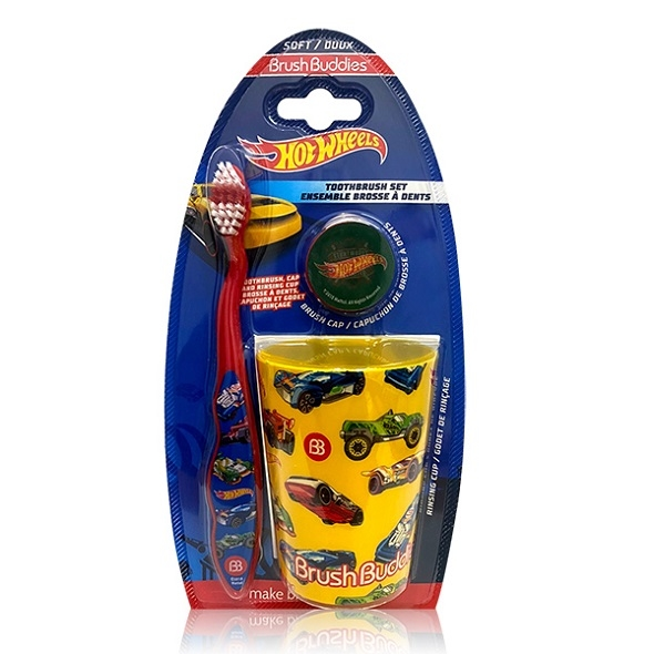 (Hot Wheels)[Hot Wheels] Toothbrush Mouth Cup Set 5+