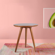 E-บ้าน Ina INA โต๊ะข้างไม้เล็ก ๆ รอบ - burlywood