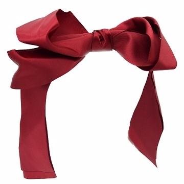 (Charme)Charme Korea Hot Commodities double ribbon bow hair big red circle