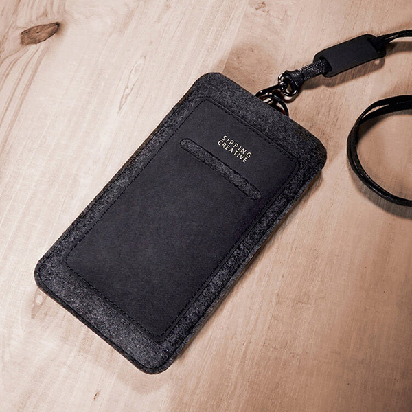 (SIPPING CREATIVE)Straight neck rope attached mobile phone sets _ _ _ upright minimalist black protective sleeve _ Mobile Phone _ iPhone 6s Plus_6s_HT