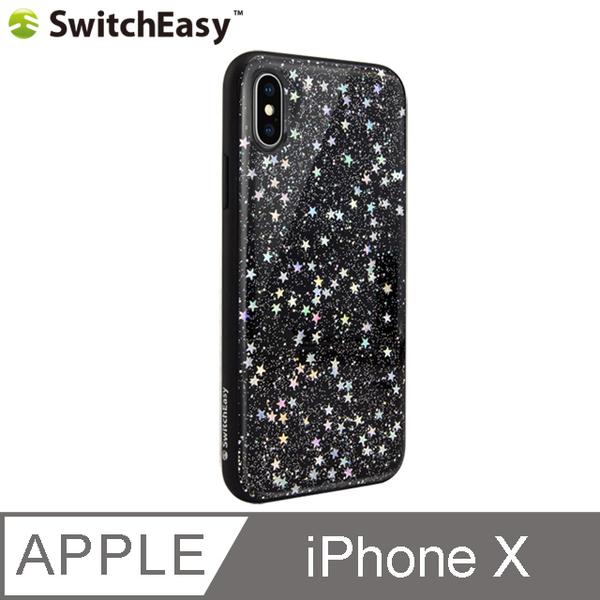 SwitchEasy Flash Star iPhone X DROP shell - the night sky (black)