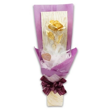 Golden Rose _ Purple Heart