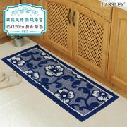 นอร์ดิก - ห้องครัวเสื่อ 45X120cm (ดอกไม้สีฟ้าเข้ม)