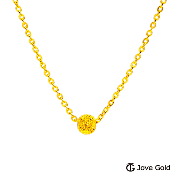 (Jove Gold)Jove Gold dazzling gold necklace with bright life-small