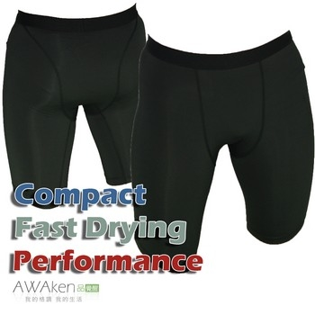มัลติฟังก์ชั่ PRO แน่นกางเกงขาสั้นสีดำเย็บ