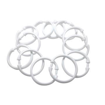 (益展-衛浴)Shower curtain special large round plastic hook 12PCS