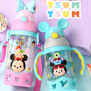 [ตัวเลือก] เปลือกที่เหนือกว่าชุด TSUM TSUM ดิสนีย์เด็กกาต้มน้ำฟาง