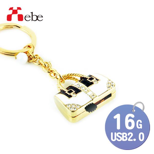 (xebe)[Xebe Set Ratio] Boutique Leather Bag (White) 16G