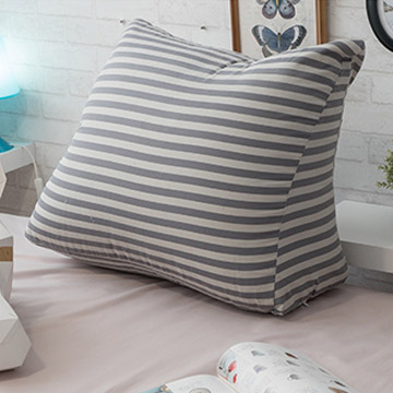 [TAITRA] Anna Home MIT Leg Elevation Pillow (Gray Stripes) - 53x45x25cm