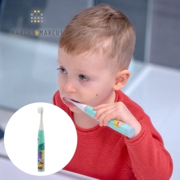MARCUS & MARCUS Children's Sonic Electric Toothbrush-Lake Green