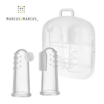 MARCUS & MARCUS Finger Cushion Toothbrush 2 Set (including box)