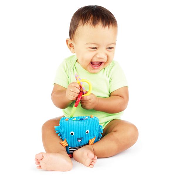 (Sassy)Sassy U.S. little monster doll to appease Rattle - Blue