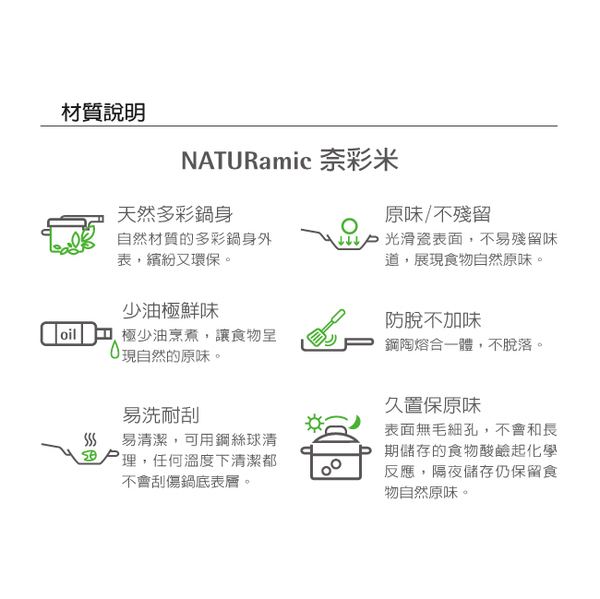 Germany WMF Naturamic series-height 24cm pot (fresh green)