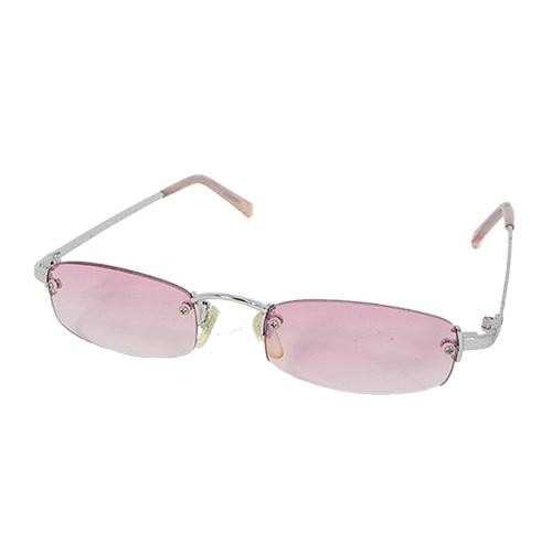 [Month] Docomo new high-specification metal sunglasses rimless design pink texture 100% anti-UV lenses