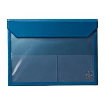 (kingjim)[KING JIM] 5366 FLATTY Navy Multipurpose Storage Bag (A4)