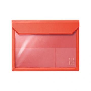 [5364 FLATTY] KING JIM red multipurpose storage bag (A5)