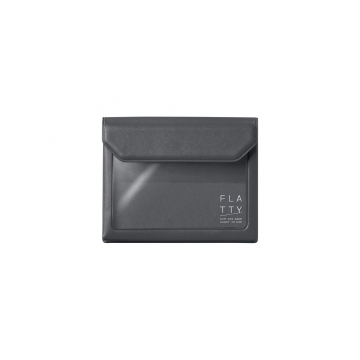 [5356 FLATTY] KING JIM dark gray versatile pouch (Card size)