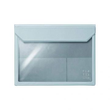 [5364 FLATTY] KING JIM versatile pouch gray-blue (A5)