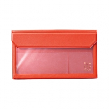 [5362 FLATTY] KING JIM red multipurpose pouch (envelope size)