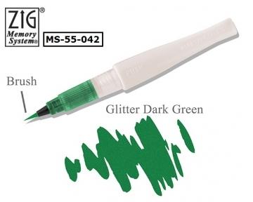 [] Kuretake Japan Wu bamboo bright color lipstick-type dark green paint pen