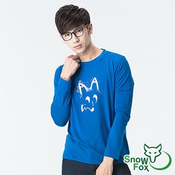 [SnowFox Xuehu] ไม่กลัวตอนเช้าและเย็นอุณหภูมิผู้ชายแขนยาวเสื้อยืดอีกต่อไป (แสงและระบายอากาศ / ป้องกัน UV50 / ความไวของกล้ามเนื้อ OUT / ATL-81661 สีฟ้า)