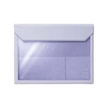 (kingjim)[KING JIM] 5364 FLATTY Lavender Purple Multipurpose Storage Bag (A5)