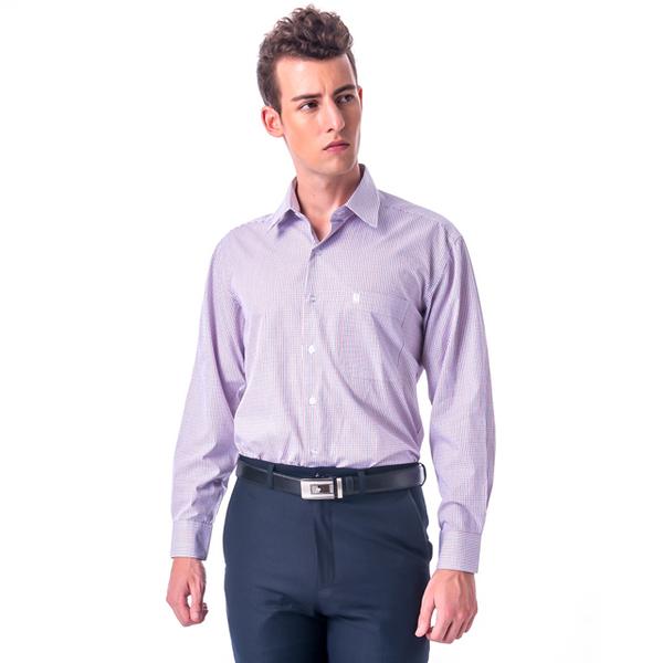(Kinloch Anderson)[金安德森]Red x Blue Medium Plaid Long Sleeve Shirt