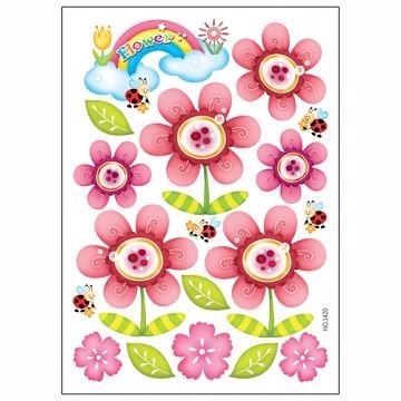 South Korea\'s most popular children\'s learning arrangement of dual-use stickers red flowers