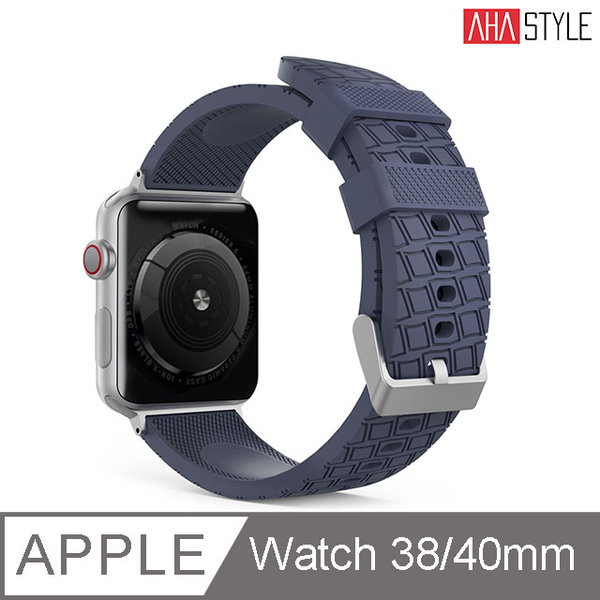 (AHAStyle)[AHAStyle] Sports Watch Silicone Strap for Apple Watch (38 / 40mm) Midnight Blue