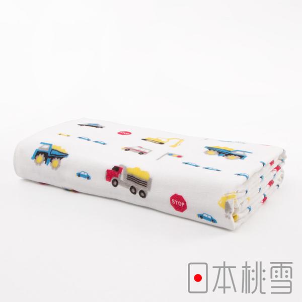 Japanese peach snow cute gauze towels (the little boy favorite - truck)