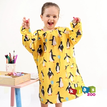 (kids zoo)[Kids zoo] cute full-length long-sleeved bandage painting clothes _ Penguin