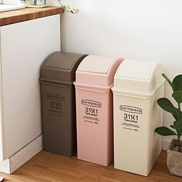 Japanese LIKE IT earthpiece swing trash can 25L - a total of four colors