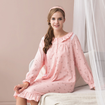 (MFN)[MFN Honey Fen] MIT-Tumbled Sheep Cotton Home Dress