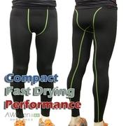 PRO กางเกงมัลติฟังก์ชั่แน่น Ying เย็บสีเขียว