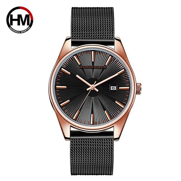 (HANNAH MARTIN)[HANNAH MARTIN] Zeus series radiant Milan with men's watch - black / 41mm (HM-KY15-H-WFH)