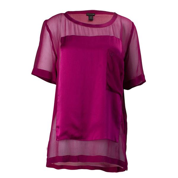(truereligion)[United States True Religion] female silk popular short blouse - pink