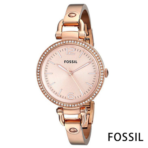 (FOSSIL)FOSSIL Small and Lightweight Simple Stainless Steel Watch (ES3226)-Rose Gold / 32mm