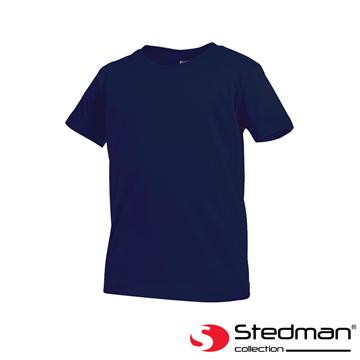 [Germany] ST2200 STEDMAN skin-friendly soft cotton round neck T-shirt - Child - Deep Blue
