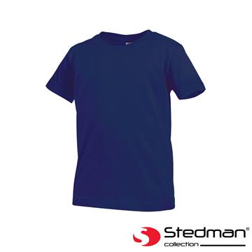 [Germany] ST2200 STEDMAN skin-friendly soft cotton round neck T-shirt - Child - Blue Night