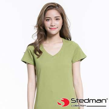 [Germany] STEDMAN ST9310 100% organic combed cotton V-neck T-shirt - Women\'s - Green