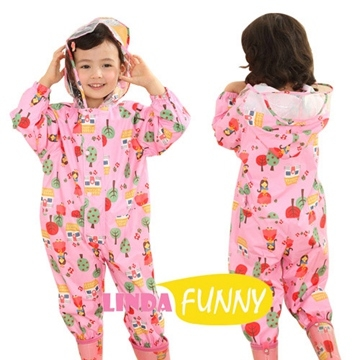 Full figure modeling-piece style raincoat children _ Princess