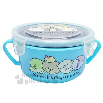 "[Auditorium] button cover four corners of biological binaural insulated stainless steel bowl ""cyan"" lunch box. Crisper"