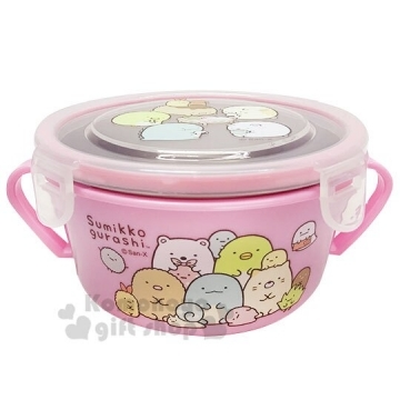 """[Auditorium] button cover four corners of biological binaural insulated stainless steel bowl """"powder"""" lunch box. Crisper"""