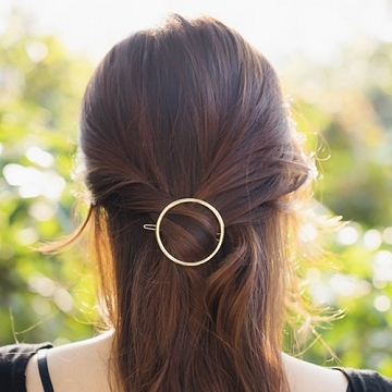 (charme)Charme Korean popular simple hollow hairpin hairpin gold round