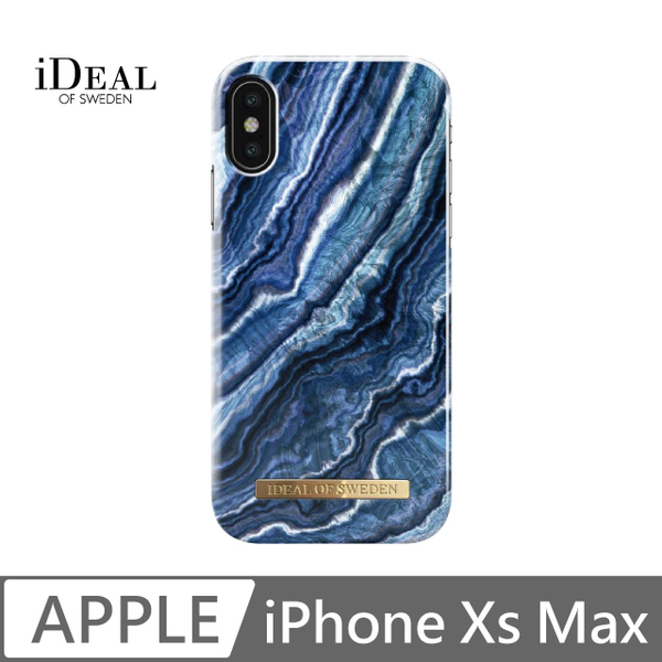 IOS iPhone Xs Max Sweden Nordic fashion popular mobile phone shell - Indigo Swirl Marble