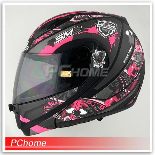 (SOL)[SOL SM-3 Evil Angel Coca-Cola Helmet Full-face Helmet Matte Black / Pink] Fully removable lining