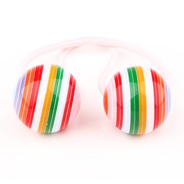 (Pleasure.ism)Korean jewelry hair accessories for girls, girl hair accessories ‧ High Sugar Sugar, rainbow colors tress children (one pair of 4) [Brad