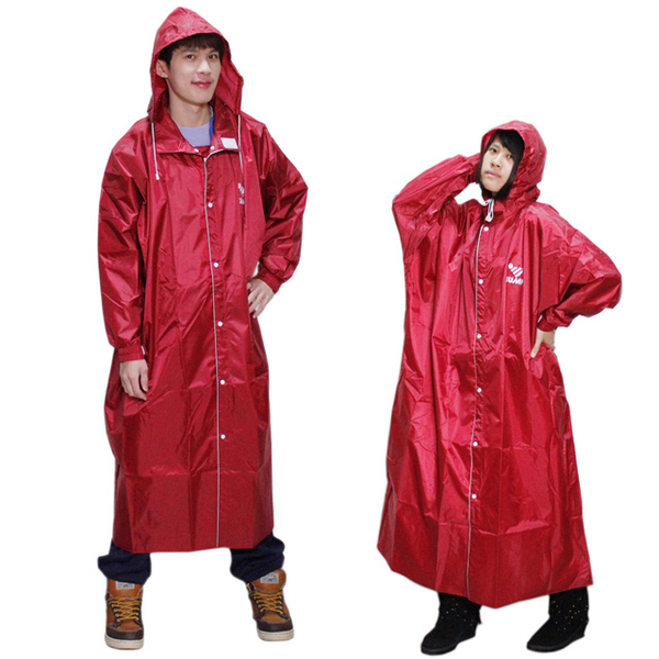 The new second-generation before [JUMP] open plain casual trench coat - red