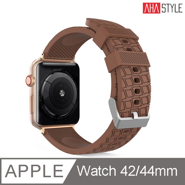 (AHAStyle)[AHAStyle] Sports Watch Silicone Strap for Apple Watch (42 / 44mm) Dark Brown